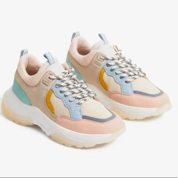 Zara Chunky Pastel Contrasting Sneakers